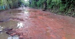রামপাল-মোংলা সড়কের বেহাল দশা, ঘটছে দুর্ঘটনা
