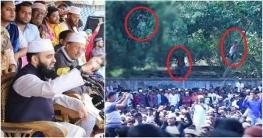 কুমিল্লায় আজহারীর ওয়াজ শুনতে গাছের ঢালে মানুষ