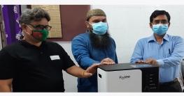 মোংলা হাসপাতালে শেখ রাসেল অক্সিজেন ব্যাংকের কনসেনট্রেটর প্রদান